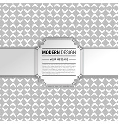 hand painted background with vintage frame vector image