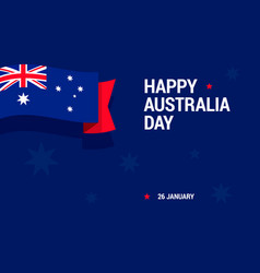 happy australia day celebration card with national vector image vector image