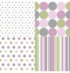 seamless patterns polka dots vector image