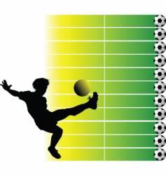 soccer final vector image vector image