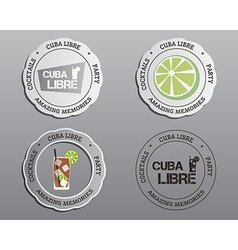 Summer cocktail party badges labels and logo vector image vector image