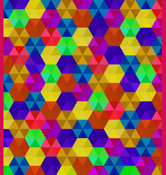 Abstract background of colorful hexagons pattern vector