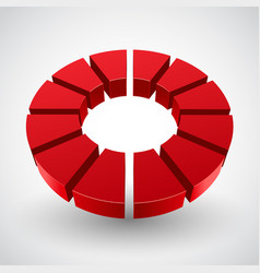 Abstract red circle vector