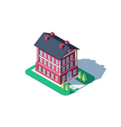 Administrative red building vector