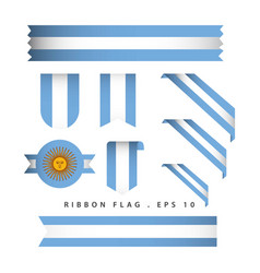 argentina ribbon flag template design vector image