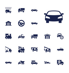 automobile icons vector image