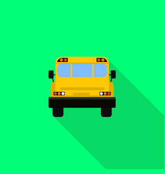 back of school bus icon flat style vector image