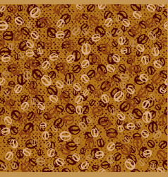 background with coffee beans coffee seamless vector image
