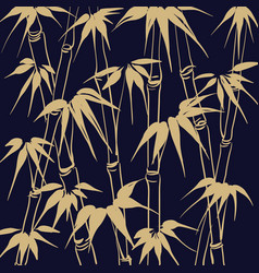 Bamboo with leaves pattern vector