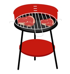 Barbeceu grill and steaks vector