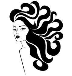 beautiful glamorous lady vector image