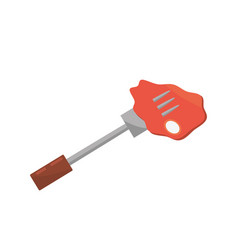 Beef meat fork food picnic vector