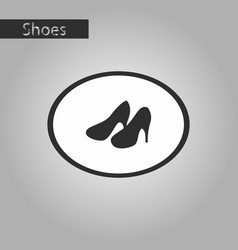 Black and white style icon women high heel shoes vector