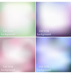Blurred romantic summer backgrounds vector