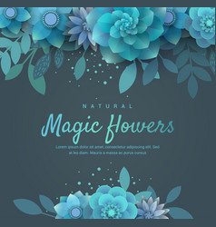 Bright floral arrangement for invitation vector
