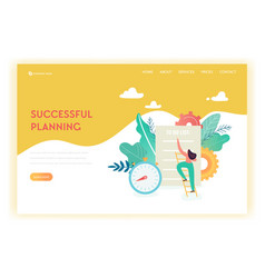 business planning and strategy landing page vector image