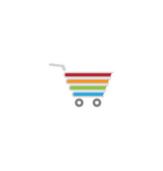 Cart shop books a shopping symbol logo vector