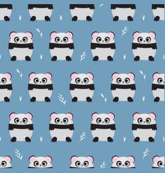 cartoon panda blue vector image