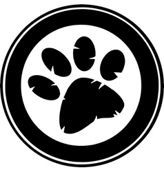 Cartoon paw print vector