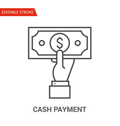 cash payment icon thin line vector image
