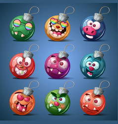 christmas ball happy new year vector image