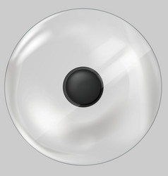 Classic round lid with plastic handle for dishes vector