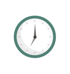 clock icon in flat style on a white background vector image