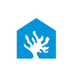 coral reef home logo vector image