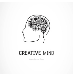Creative mind - business logo template vector