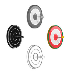 darts icon in cartoonblack style isolated on vector image