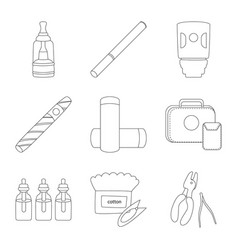 Design nicotine and filter sign set of vector