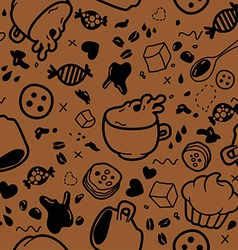 Endless coffee pattern vector image