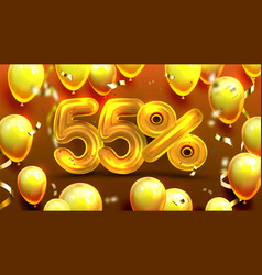 fifty five percent or 55 marketing offer vector image