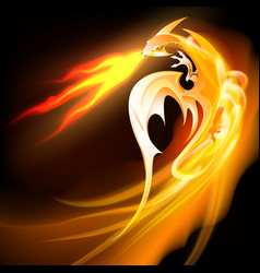 Fire breathing dragon vector