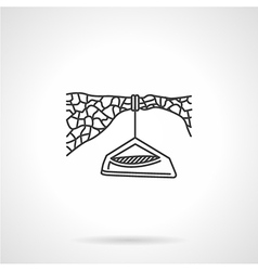 Flat line icon for hanging camp vector image