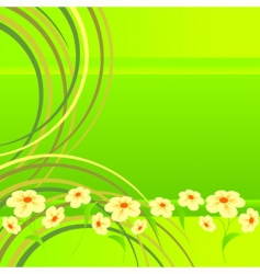 flowers on lawn vector image