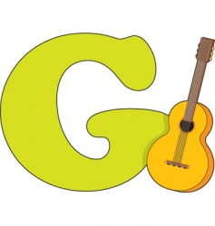 G for guitar vector