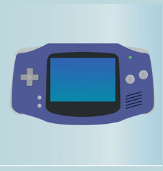 Game console with minimal button and screen vector