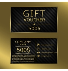 Gift voucher cards vector image