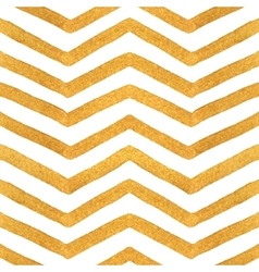 Gold textured seamless zigzag pattern vector