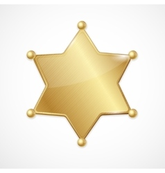 golden sheriff badge star blank vector image