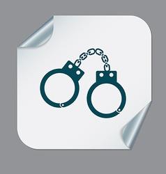 handcuffs symbol of justice police icon vector image