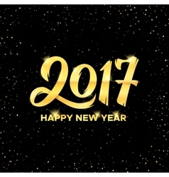 Happy New Year 2017 greeting card design vector image