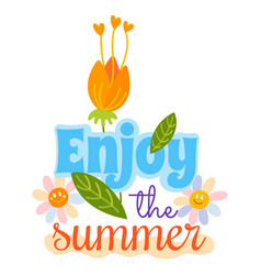 hello summer typographic logo sign on withe vector image