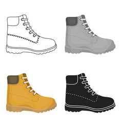 Hiking boots icon in cartoon style isolated on vector