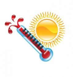 Hot weather illustration vector