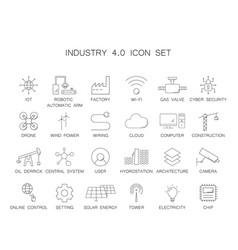 Industry 40 icon set vector
