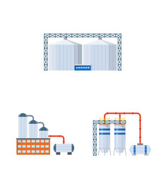Industry and building icon vector