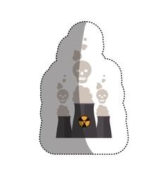 Isolated biohazard chimney design vector