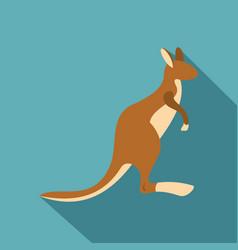 kangaroo icon flat style vector image
